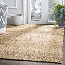 Safavieh Natural Fiber Collection NF452A Hand Woven Natural Jute Area Rug, 9 feet by 12 feet (9' x 12')