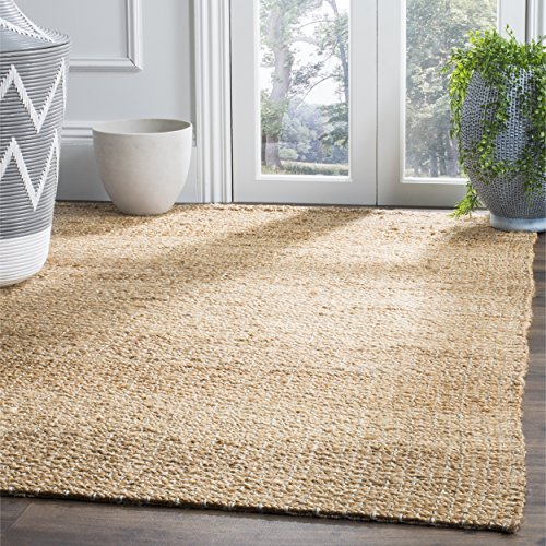 Safavieh Natural Fiber Collection NF452A Natural Sisal Square Area Rug (6' (Seagrass Sisal Rug)