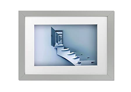 Living Colors Modern Stairway To Heaven A3 Framed Art Print Silver