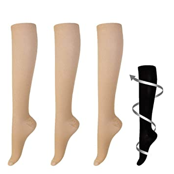 1a45228a8151fb Graduated Compression Socks 15-20mmHg for Women and Men 3 Pairs - Ideal for  Everyday