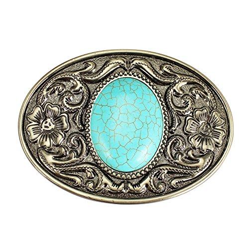 Huabola Western cowboy belt buckle Turquoise