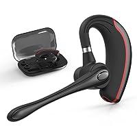 Bluetooth Headset,Wrieless OhrhörerBluetooth Kopfhörer V4.1 Freisprechen mit Mikrofon für Business/Büro/Fahren(Rot)