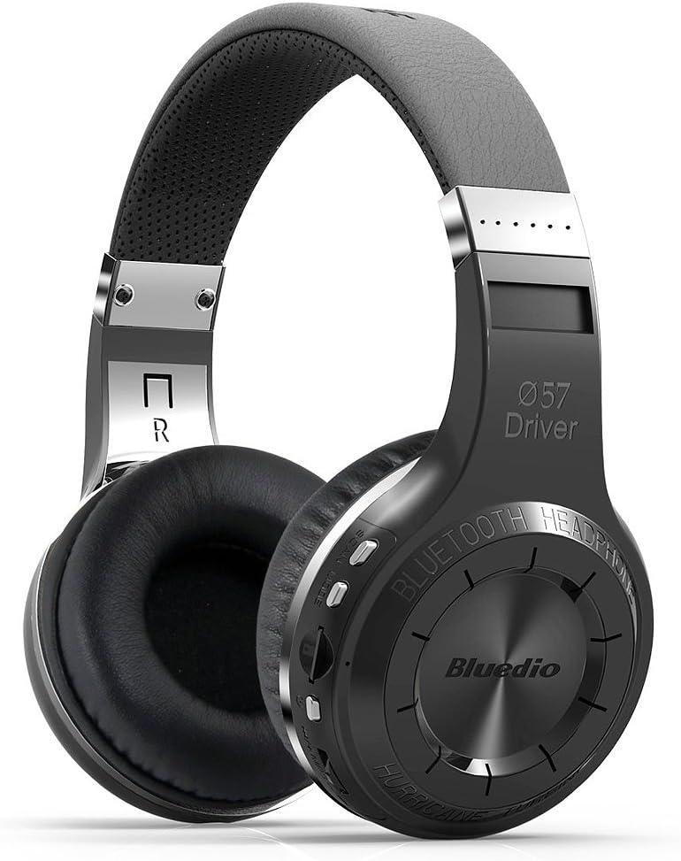Desconocido Bluedio h + Auricular Bluetooth 4.1estéreo inalámbrico Plegable Apoyo TF Tarjeta FM–Negro