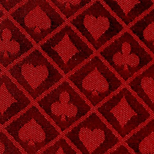 10' section of red two-tone poker table speed cloth - Polyester by ()