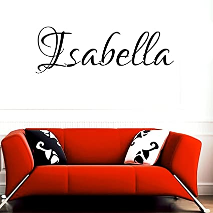 Amazoncom Isabella Girl Name Boy Name Letters Childrens Room Vinyl