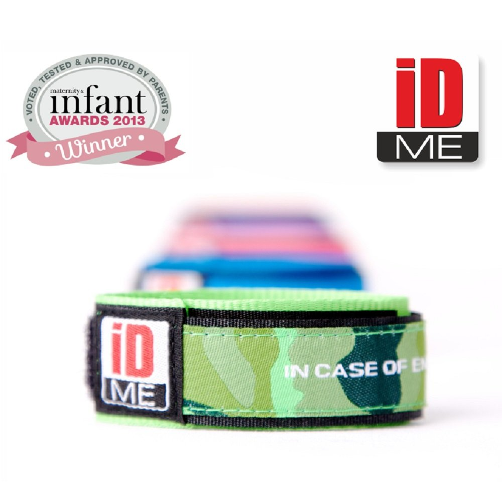 IDme safety identity wristband (Red)