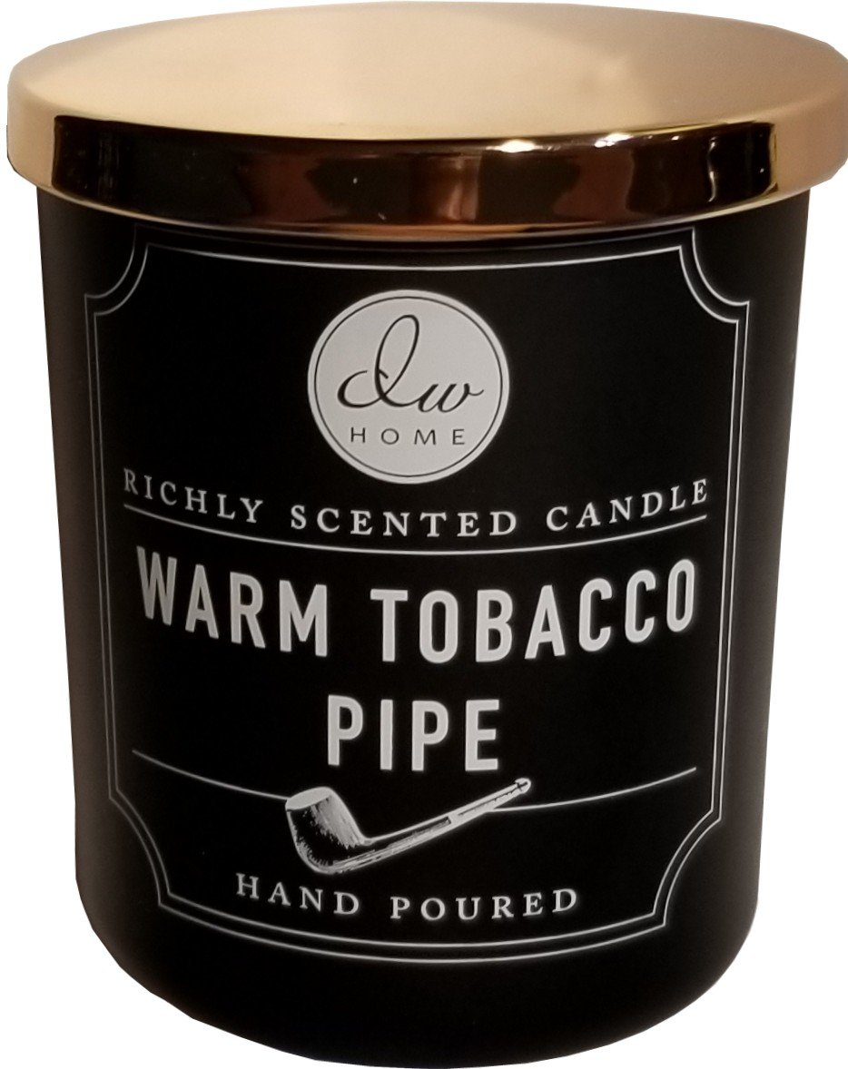 DW Home Warm Tobacco Pipe Richly Scented Candle Single Wick (4 oz, Shiny Copper)