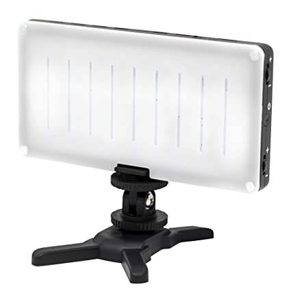 GVBGEAR On Camera LED Pocket Light Fixture for DSLR Sony, Nikon, Canon,  iPhone Android Smartphones with USB Charger for iPhone | Built-In Battery  60