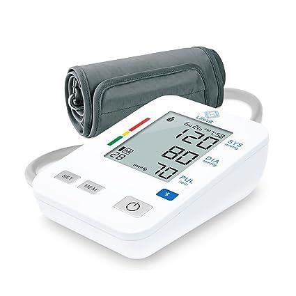 LifeVit BPM-160-Tensiómetro de Brazo Inteligente-Monitor Digital de Presión Arterial con