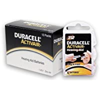 Duracell Hearing Aid Batteries Size 312 pack 40 batteries