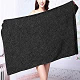 SOCOMIMI 100% Cotton Super Absorbent black paper texture background Multipurpose Quick Drying L63 x W31.2 INCH
