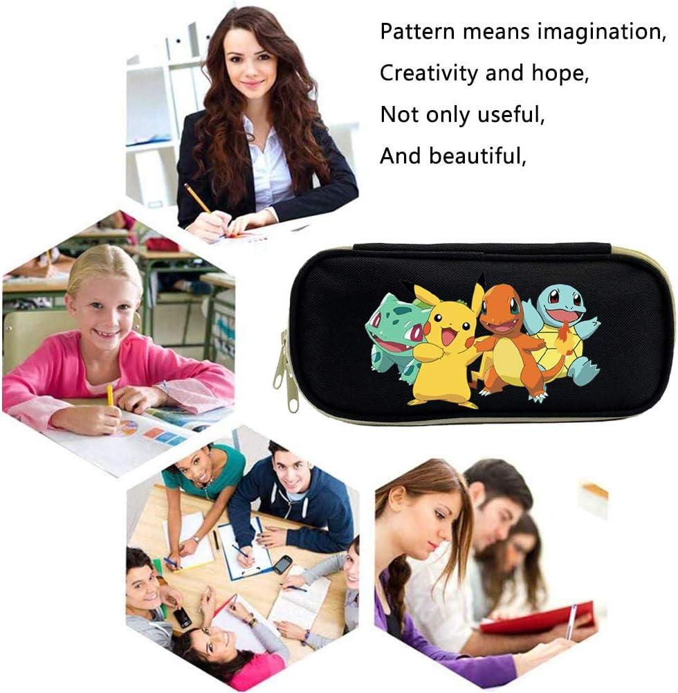Federm/äppchen Jungen Federmappe M/äppchen f/ür Schule Federm/äppchen Pikachu,Pokemon Pikachu Schulm/äppchen f/ür Schreibwaren Pokemon M/äppchen Schulsachen Federtasche