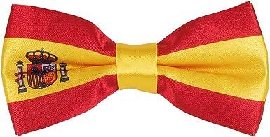 cravateSlim Pajarita Bandera Española - Bandera España: Amazon.es ...