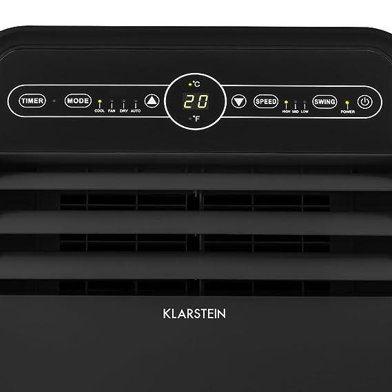 Klarstein Metrobreeze 9 New York City Climatizador 3 en 1 (1050 W Potencia, 9000 BTU/h, función Ventilador, refrigerador, deshumidificador, Clase energética ...