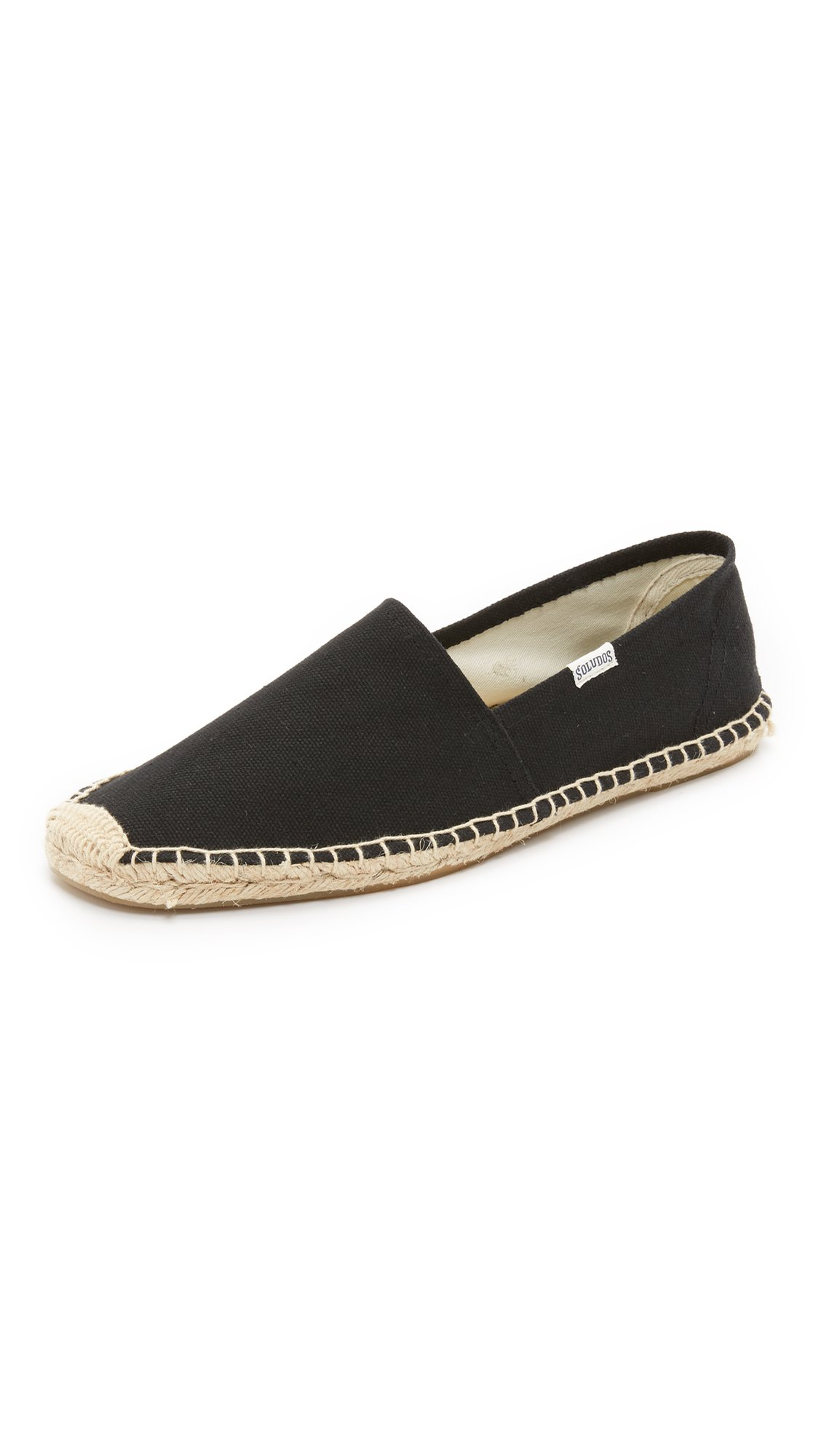 Soludos Men's Solid Original Dali Sandal, Black, 12 M US