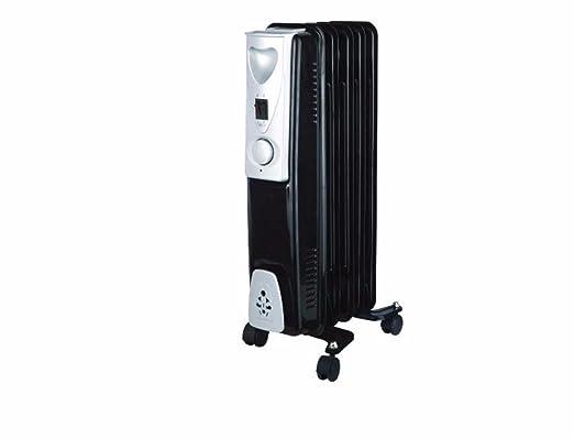 Connect-It Radiador de aceite - Negro/Plata: Amazon.es: Hogar