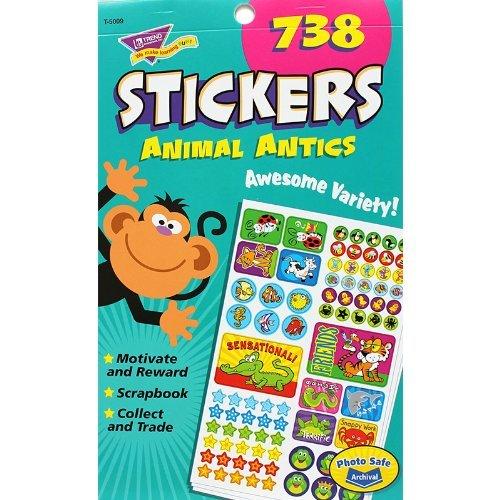 Trend Trend Trend Animal Antics Kids Sticker Pad by TREND ENTERPRISES INC. a1e128