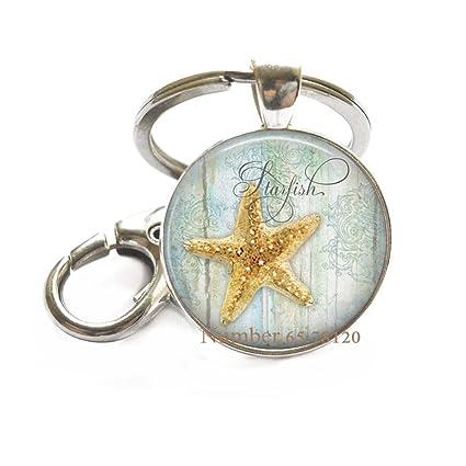 Llavero de estrella de mar, llavero de estrella de mar ...