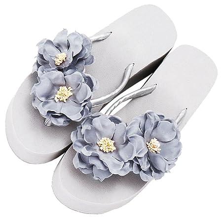 eae8a1c90334 YAnFAn   Sandals Slipper Clip Toe EVA Platform Heel Slip-On Casual Lovely  Stylish Flip