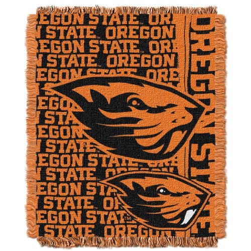 Oregon State Beavers Woven Jacquard - The Northwest Company NCAA Oregon State Beavers Double Play Jacquard Triple Woven Throw, 48