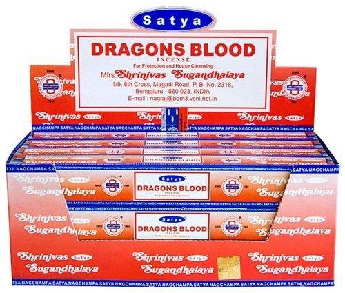 Satya Dragon's Blood - Twelve 15 Gram Boxes - Satya Sai Baba Incense
