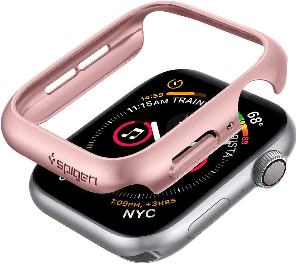 Spigen Thin Fit Designed for Apple Watch Case for 40mm Series 6/SE/5/4 - Rose Gold
