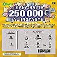 TA- Artículo de Broma rascas Ticket Falso de Loteria Siempre GANA 50.000 € Premio - Rasca y GANA raspaditos