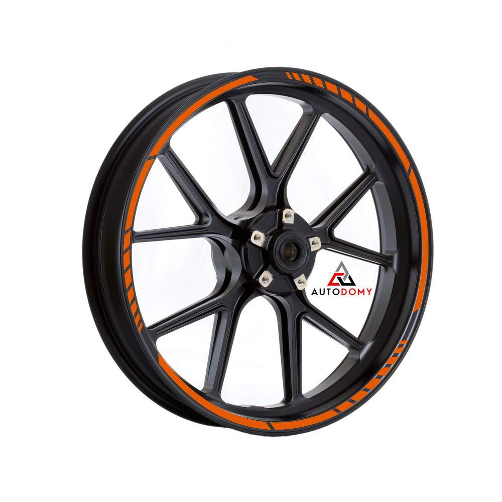 Autodomy Pegatinas Llantas Moto Juego Completo para 2 Llantas de 15 a 19 Pulgadas Dise/ño Sport Oro