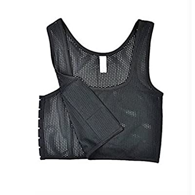 Lesbian Breathable Flat Chest Elastic Band Strapless Compression Binder Tank at Women's Clothing store