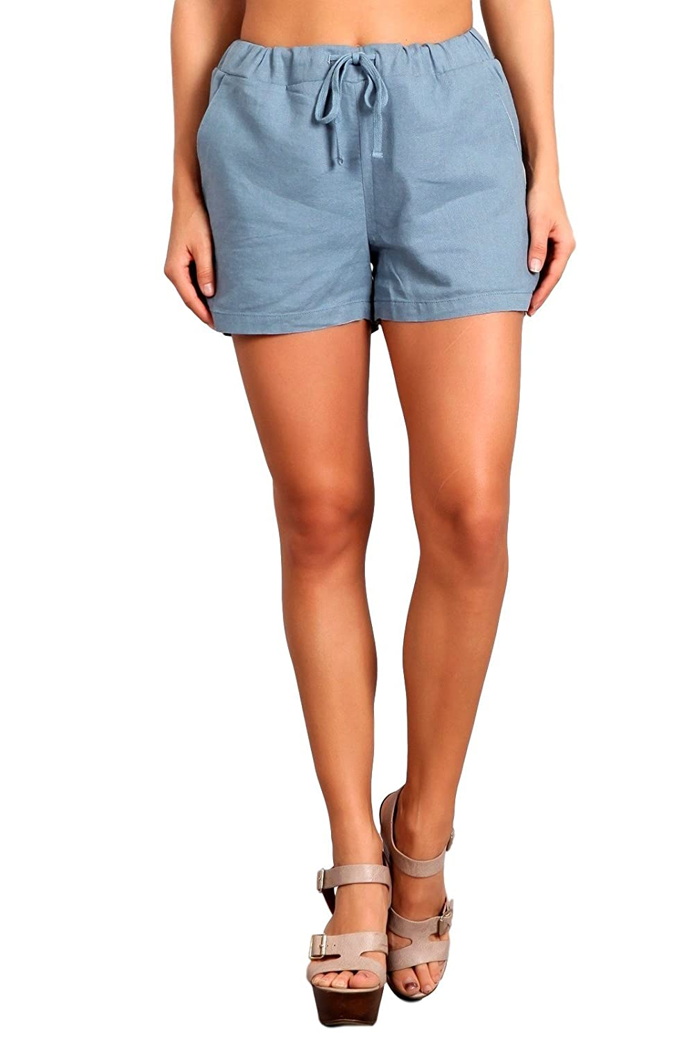 Celebrity Pink Women's High Rise Linen Shorts CJ31097GX