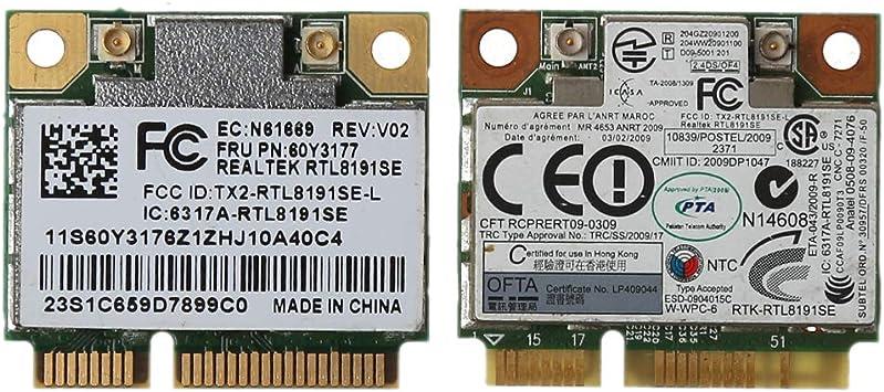 ICCQ RTL8191se Half PCI-E Wireless WiFi Card Module FRU 43Y6553 60Y3177 for IBM Lenove Thinkpad X200S X201 802.11BGN Accessories