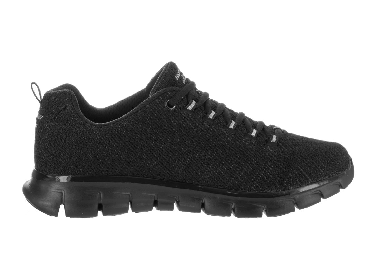 Skechers Women's Synergy Safe and Sound Training Shoe,Black,US 9 M