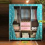 LaaLaa Wardrobe organizer closet storage Extra Strong and Durable Portable Wardrobe Storage individual Environmental protection Non-woven Fabric Coversize:150cm170cm,B