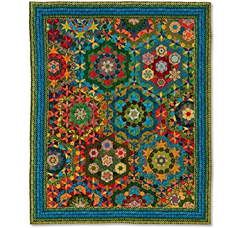 Rondo Vivace Quilt - Millefiori Quilts 3 by Willyne Hammerstein (Oversized 3/8'' Templates and Papers) by Millefiori Quilts
