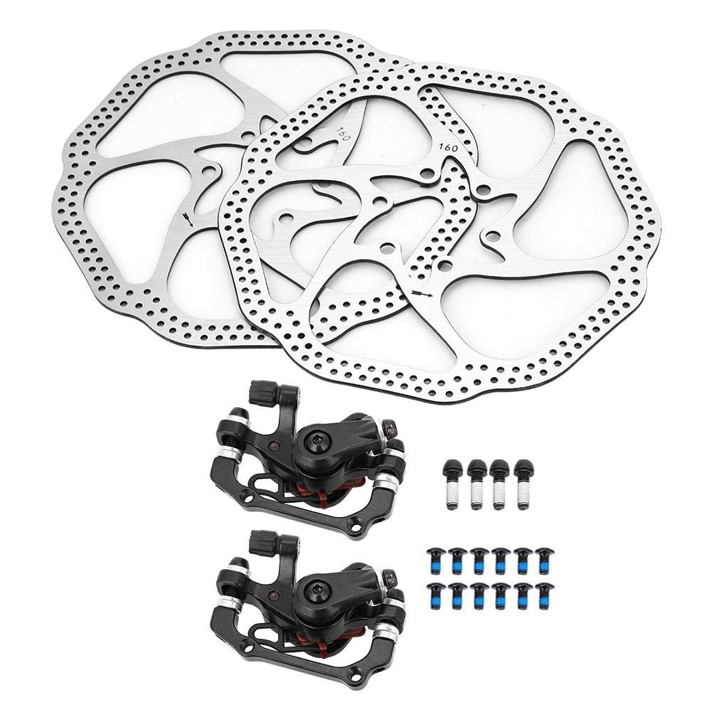 Sturdy Durable Bike Disc Rotor Brake Kit with 160mm Rotors Cycling Mechanical Disc Brake Calipers Front Rear VGEBY1 Bicycle Disc Brake Set