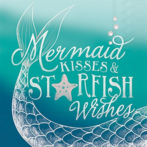 (Celebrate the Home Beachy 3-Ply Paper Cocktail Napkins, Mermaid Kisses, 20 Count)