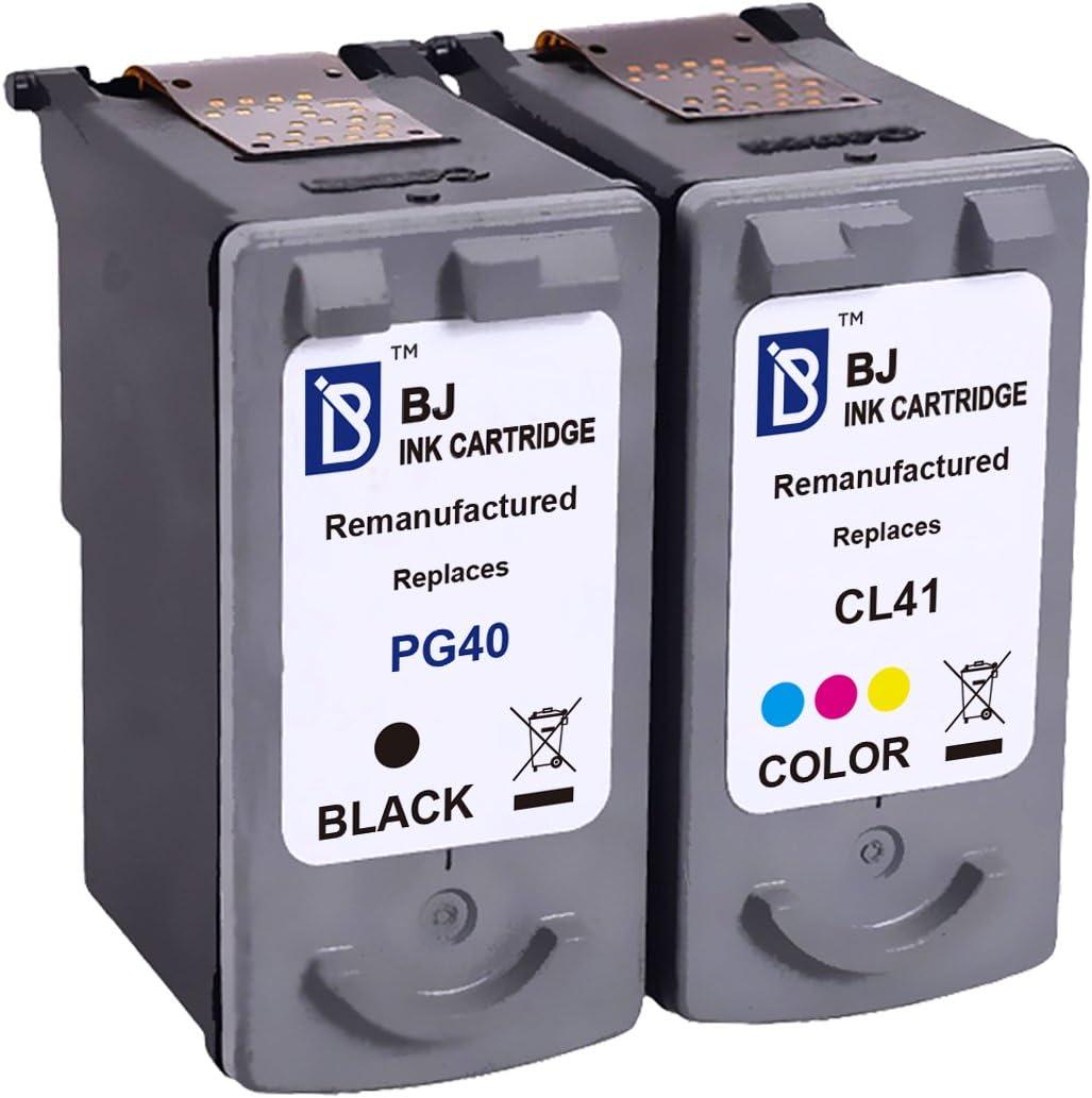 BJ - Cartucho de tinta de repuesto para Canon PG-40 CL-41 para impresora Canon PIXMA MP470 MX310 MP210 MP460 iP1600 MP160 iP1800 (1 negro 1 tricolor): Amazon.es: Electrónica