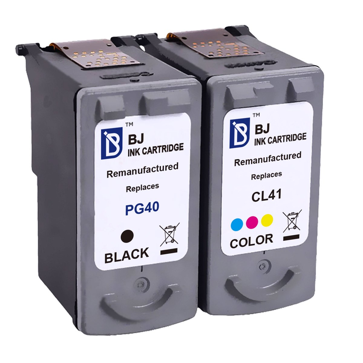 Amazon.com: BJ Remanufactured Ink Cartridge 2 Pack Replacement for Canon  PG-40 CL-41 0615B002 0617B002 for Canon PIXMA MP470 MX310 MP210 MP460  iP1600 MP160 ...