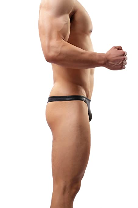 Amazon.com: Sexy Lingerie G-string&thongs Underwear Faux Leather Jockstrap Briefs# C36: Clothing