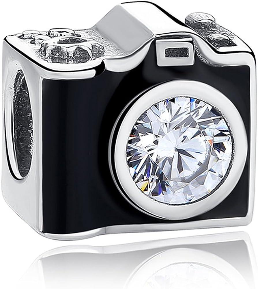 Sentimental Snapshots - Abalorios de cámara de fotos, de plata de ...