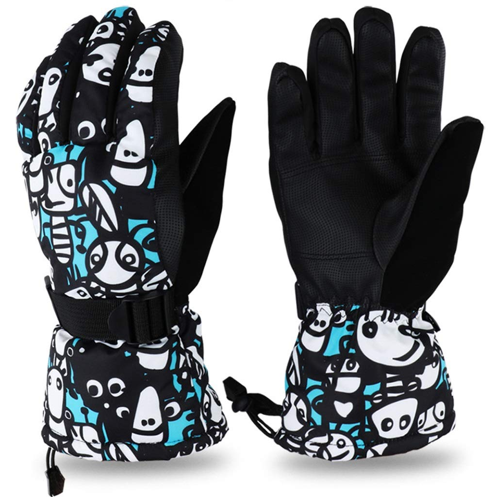 AsDlg Winter Ski Gloves, Upgraded Warmer Skiing Gloves, Waterproof & Windproof Thermal Gloves for Skiing, Snowboarding, Shredding, Snowballs (Color : B, Size : M)