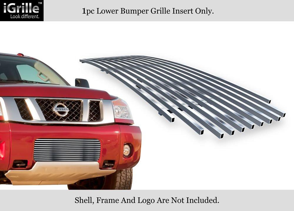 Fits 2004-2015 Nissan Titan//04-07 Armada Bumper Stainless Billet Grille Insert #N85413C
