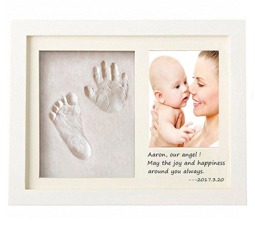 Regalos /Únicos para el Reci/én Nacido y Fiesta de Bienvenida al Beb/é #1 Kit de Marco de Huellas de Mano y pie de beb/é 3D Marco de Huellas para Ni/ños Joyeee Marco de Fotos para Beb/é