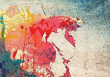 murando Quadro 60x40 cm 3 Pezzi Stampa su Tela in TNT XXL Immagini Moderni Murale Fotografia Grafica Decorazione da Parete Mappa del Mondo 020113-47