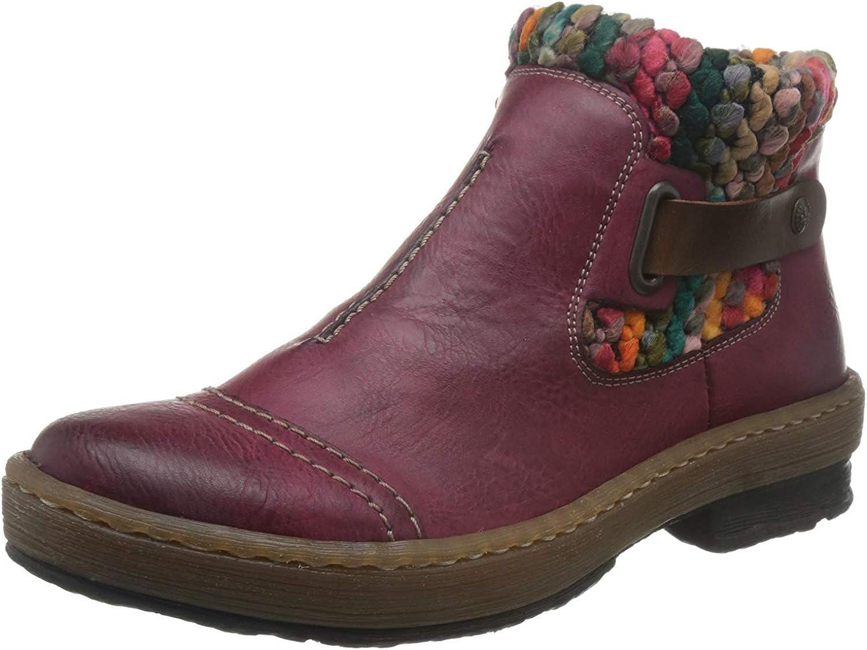 RIEKER WINTER HALB Schuhe Ankle Boots 38 UK 5 Woll Futter