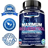 1 Resveratrol Supplement with Amazing All-Natural Trans Resveratrol Antioxidants for Anti-Aging Immune System Support Cardiovascular Health amp Great Skin 30 Day Supply Discount