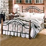 King Size Four Poster Bed Hillsdale Furniture 164BKR Winsloh Bed Set with Rails, King, Black