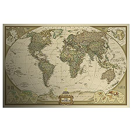 Vintage style retro poster log the world map decor map giant chart vintage style retro poster log the world map decor map giant chart of the atlas gumiabroncs Image collections