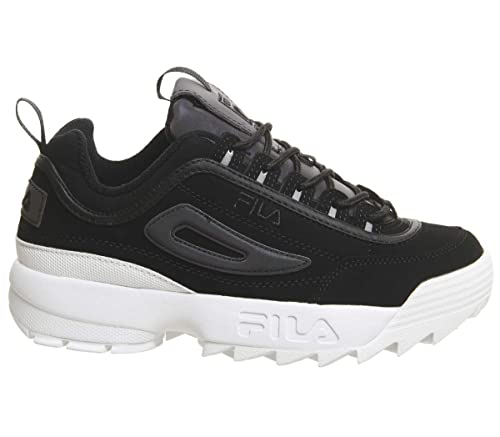 Fila Disruptor II Premium Phaseshift Split Negro Mujer Zapatillas-UK 4: Amazon.es: Zapatos y complementos