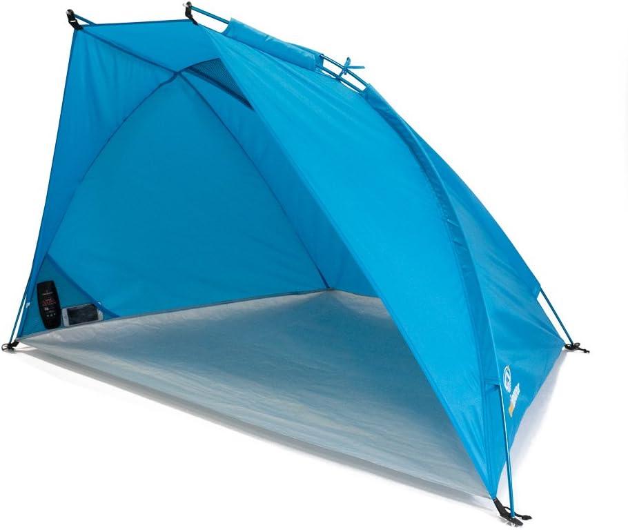 Jardin Petit Pack Bessport Tente de Plage pour 2 et 3 Personnes Protection UPF 50+ Tente de Plage de Protection Solaire pour Famille abri de Plage Ultra-l/éger avec Base Extensible